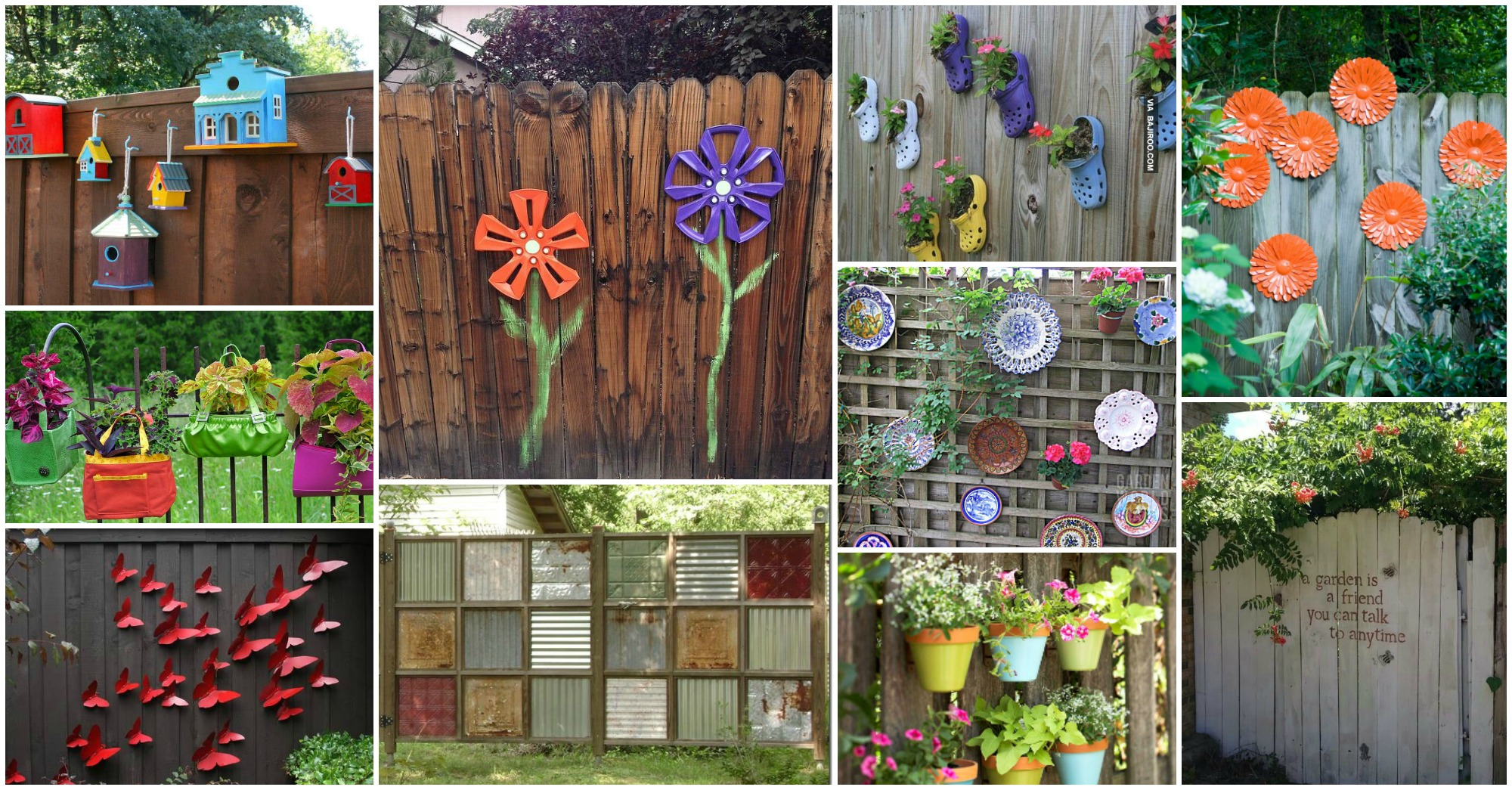 12 Beautiful Diy Fence Decoration Ideas for size 2000 X 1045