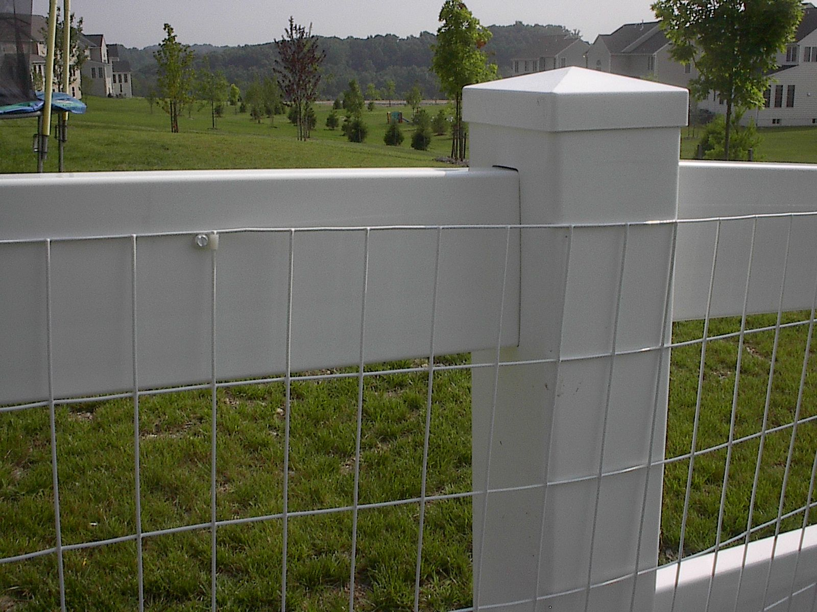 White Vinyl Coated Welded Wire Fencing • Fence Ideas Site