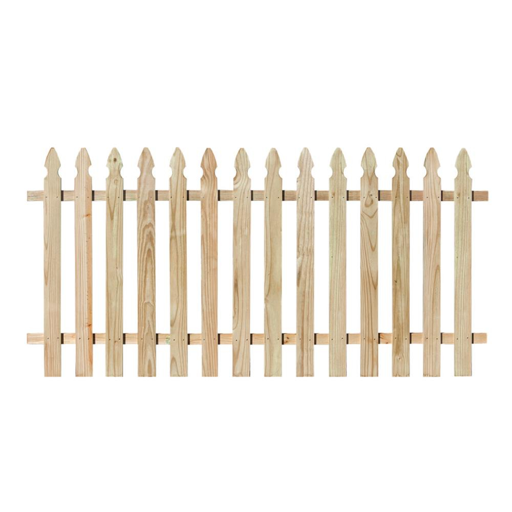 4 Ft X 8 Ft Pressure Treated Pine Spaced French Gothic Fence Panel in sizing 1000 X 1000