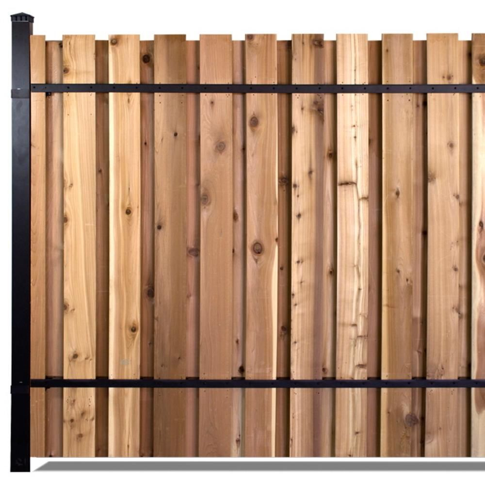6 Ft X 8 Ft Black Aluminum End Post Fence Panel Kit With 10 Ft with sizing 1000 X 1000