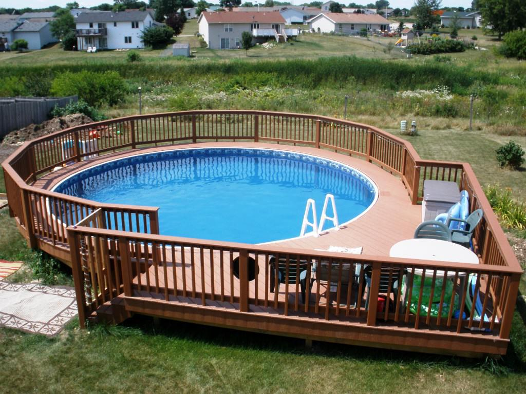 Above Ground Pool Fence Wood Wilson Home Ideas Choosing Ideal Pertaining To Dimensions 1024 X 768