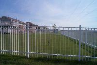 Aluminium Fence Installation Metal Fence White Liberty Fence And with regard to proportions 1152 X 864