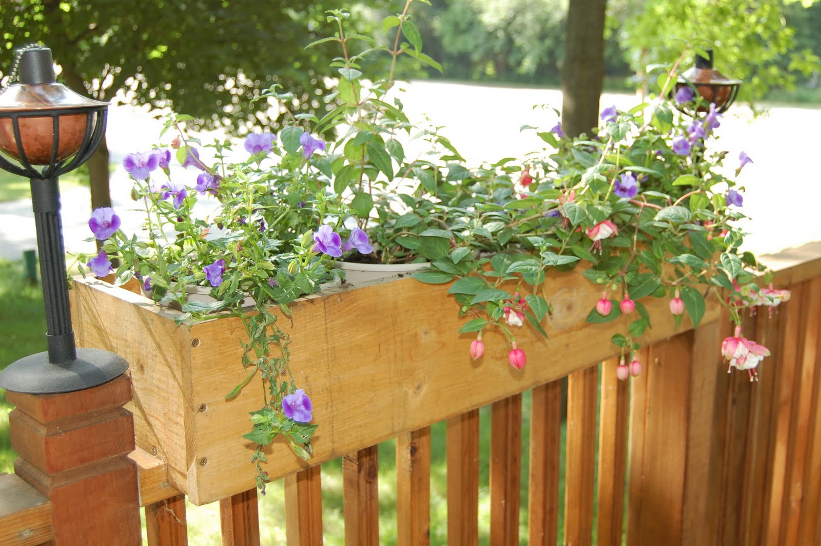 Over The Fence Plant Hangers Outdoor Fence Ideas Site