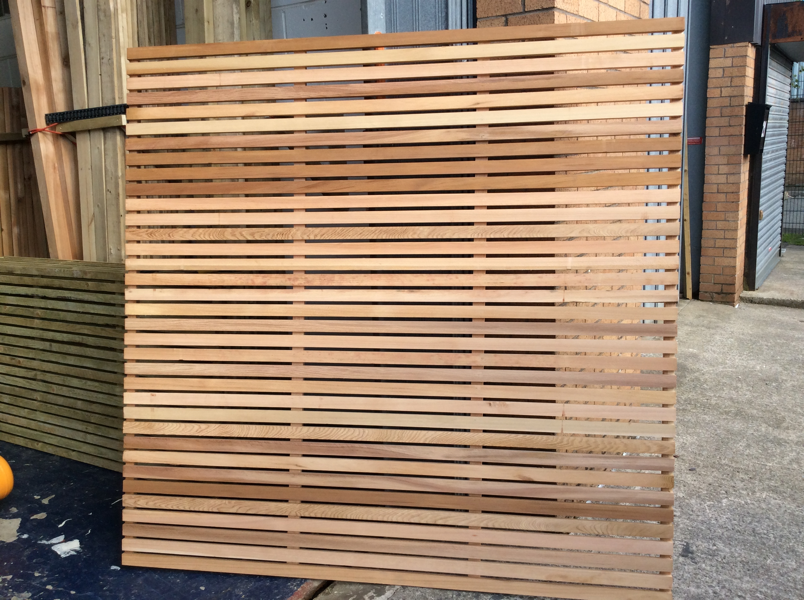 Beautiful Western Red Cedar Fence Panels Intended For Sizing 2592 X 1936