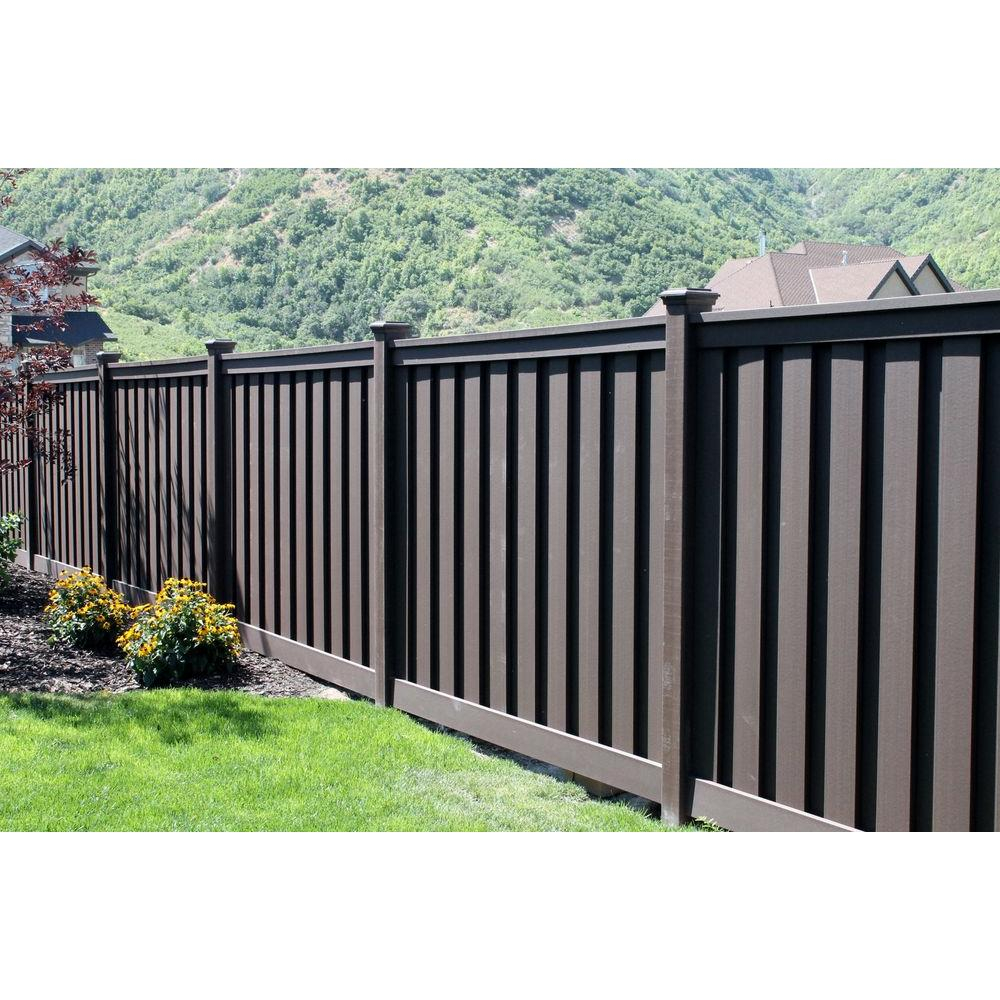 Black Composite Privacy Fence Wood Composite Privacy Fence intended for size 1000 X 1000