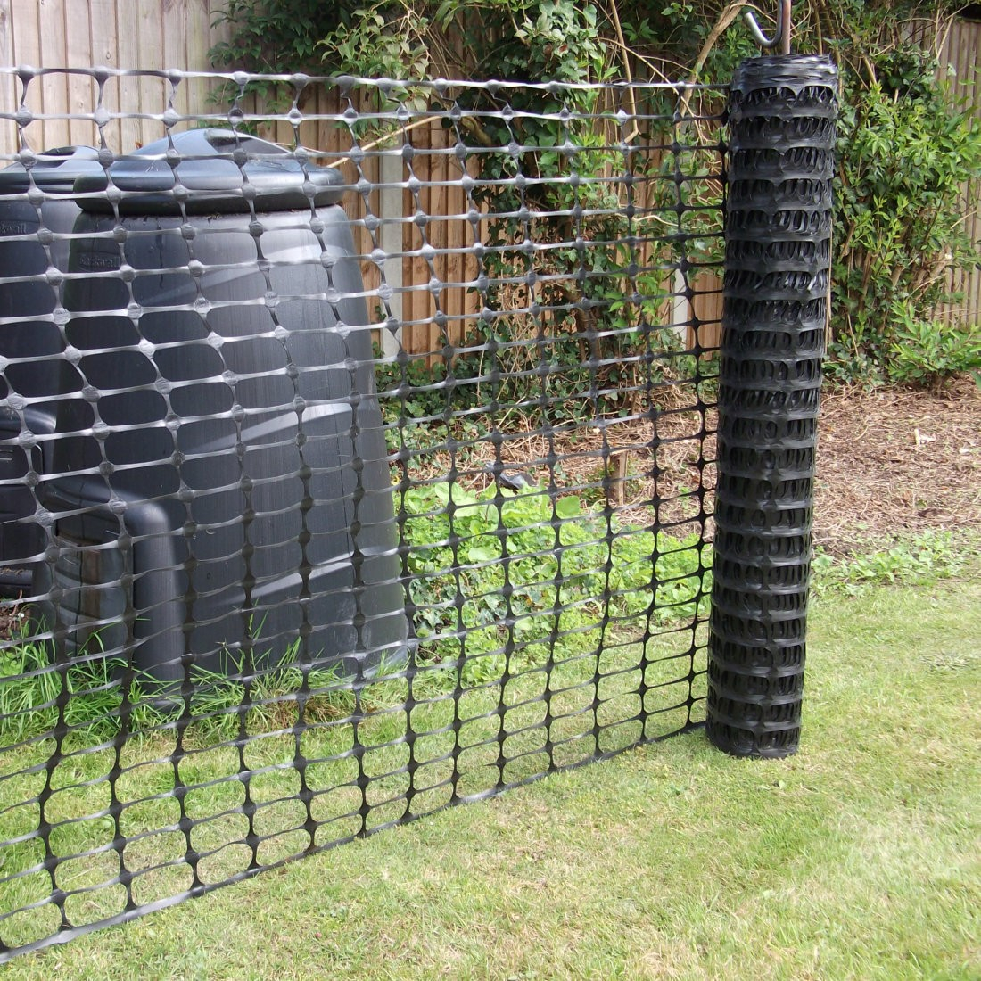 Black Plastic Barrier Mesh Fence 50m Rolls pertaining to proportions 1100 X 1100