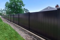 Black Pvc Vinyl Privacy Fencing Panels Illusions Vinyl Fence inside dimensions 1000 X 1000