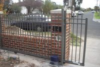 Brick And Iron Fence Ideas Google Search Fence Project intended for measurements 1024 X 768