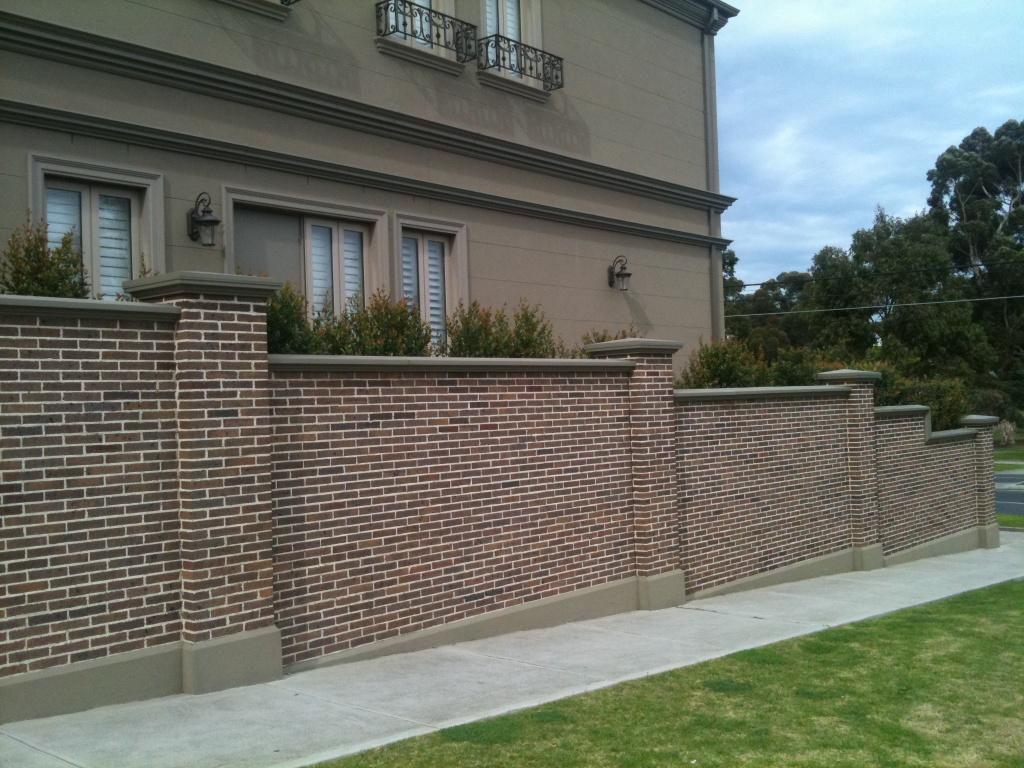 Brick Wall Fence Designs: Simple Brick Fence Designs • Fence Ideas Site