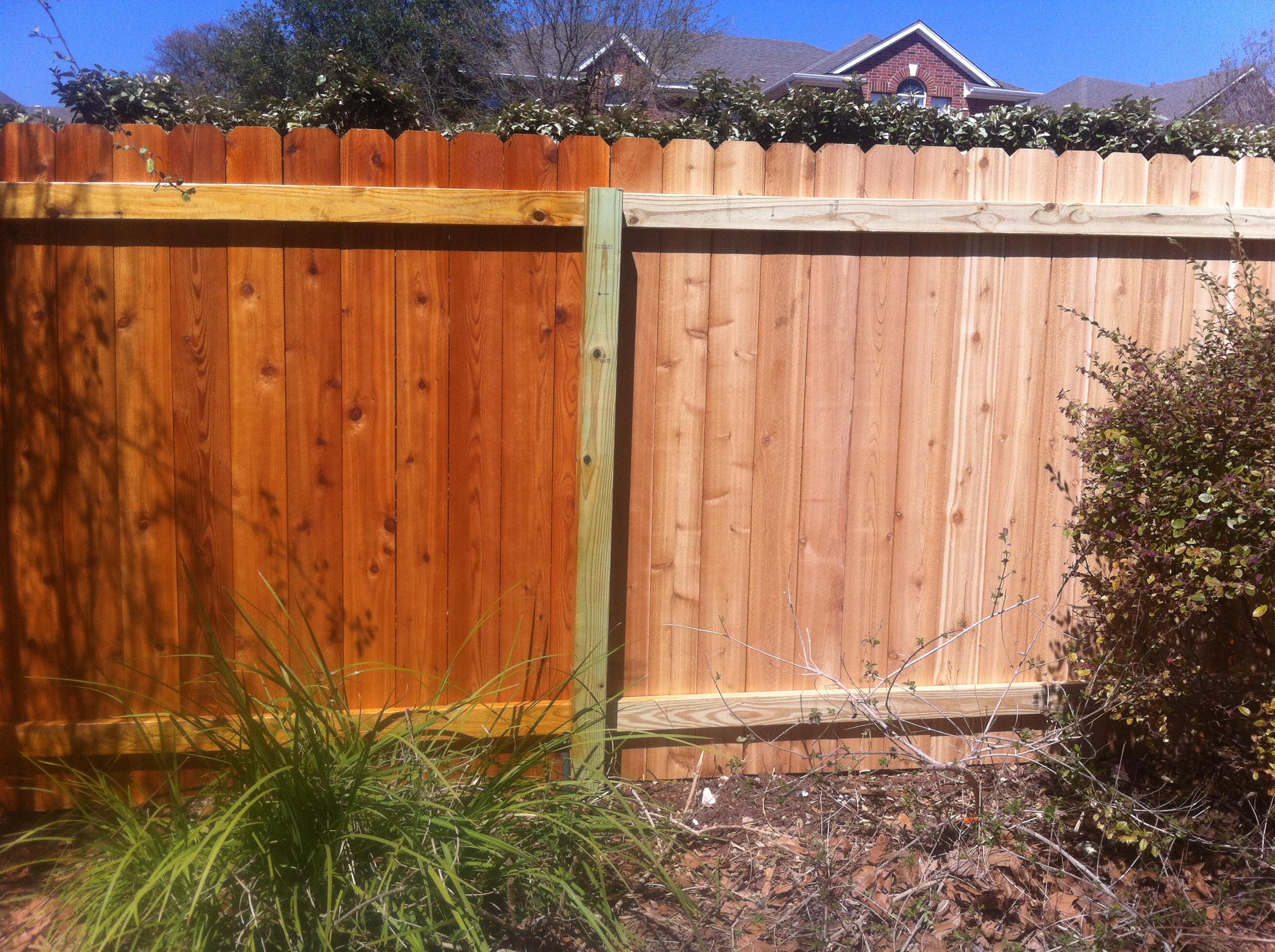 Cedar Fence Clear Sealer Fences Ideas with regard to size 2592 X 1936