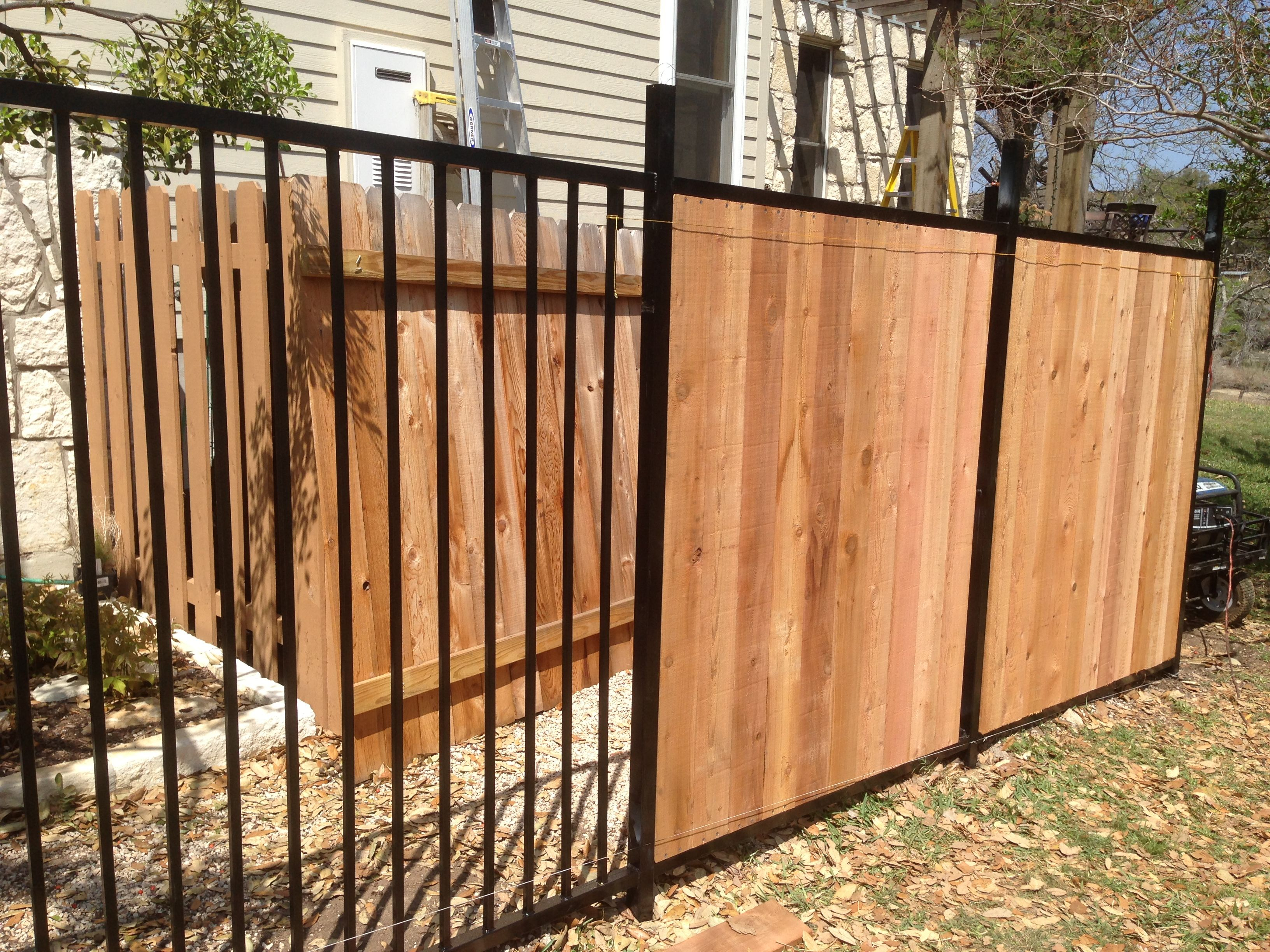 Wrought Iron Fence Privacy Screen Ideas Site