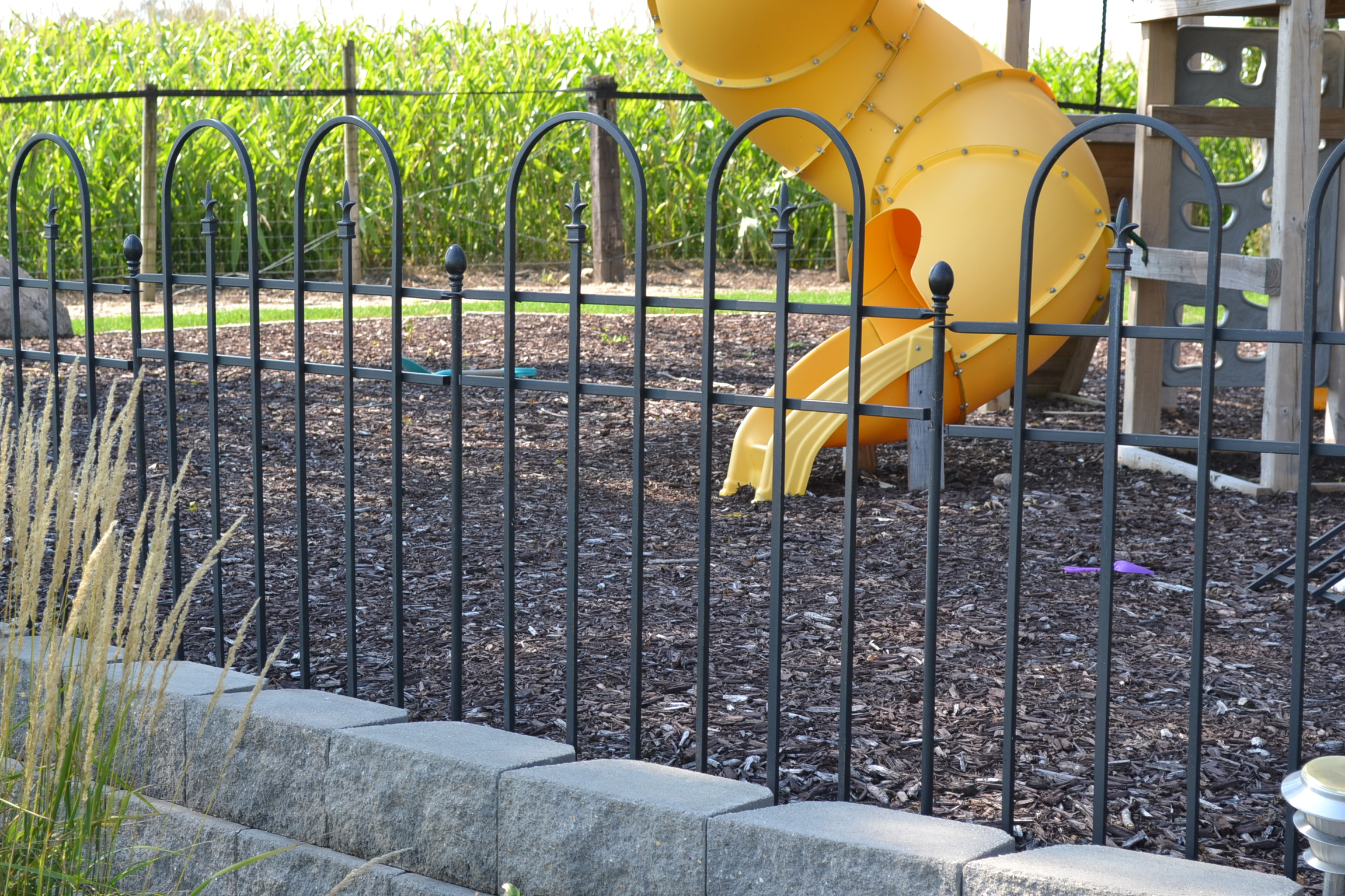 Decorative Metal Garden Ornamental Aluminum Fence Fencing Home Art throughout measurements 2304 X 1536