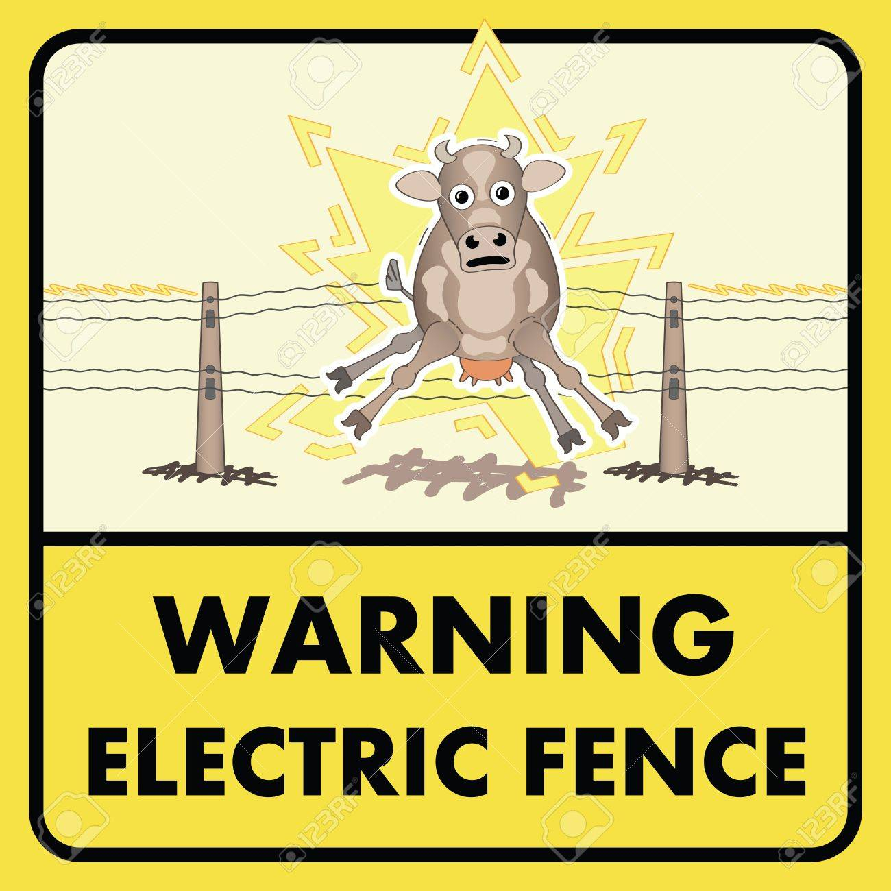 Electric Fence Sign Royalty Free Cliparts Vectors And Stock pertaining to size 1300 X 1300