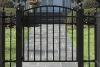 Fence Gates Wrought Iron Or Cedar Garden Gate pertaining to measurements 1000 X 1000