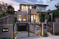Grey Exterior Color With Simple Iron Fence Designs For Modern Home with regard to measurements 1024 X 768