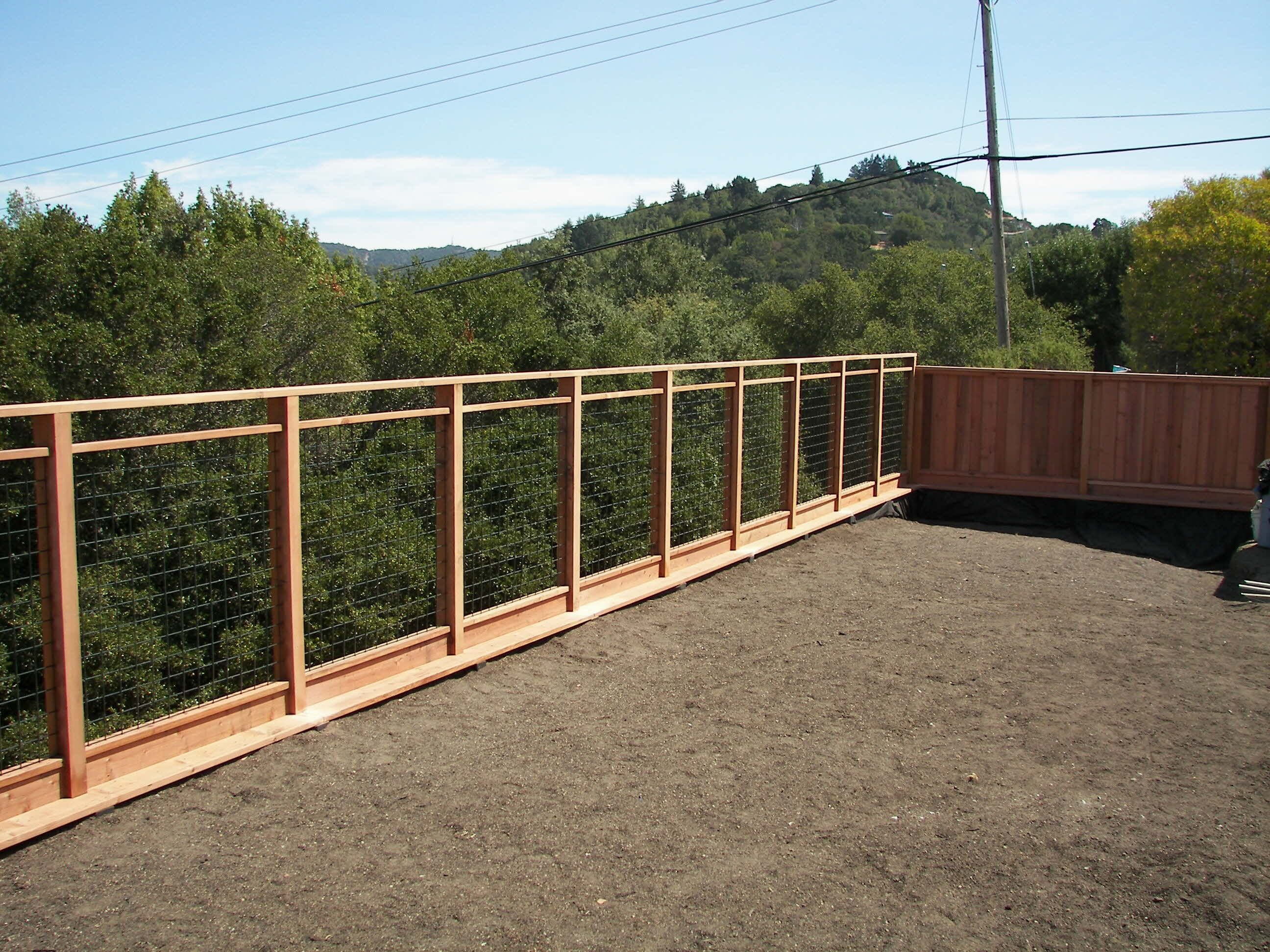 Wood Framed Cattle Panel Fence • Fence Ideas Site