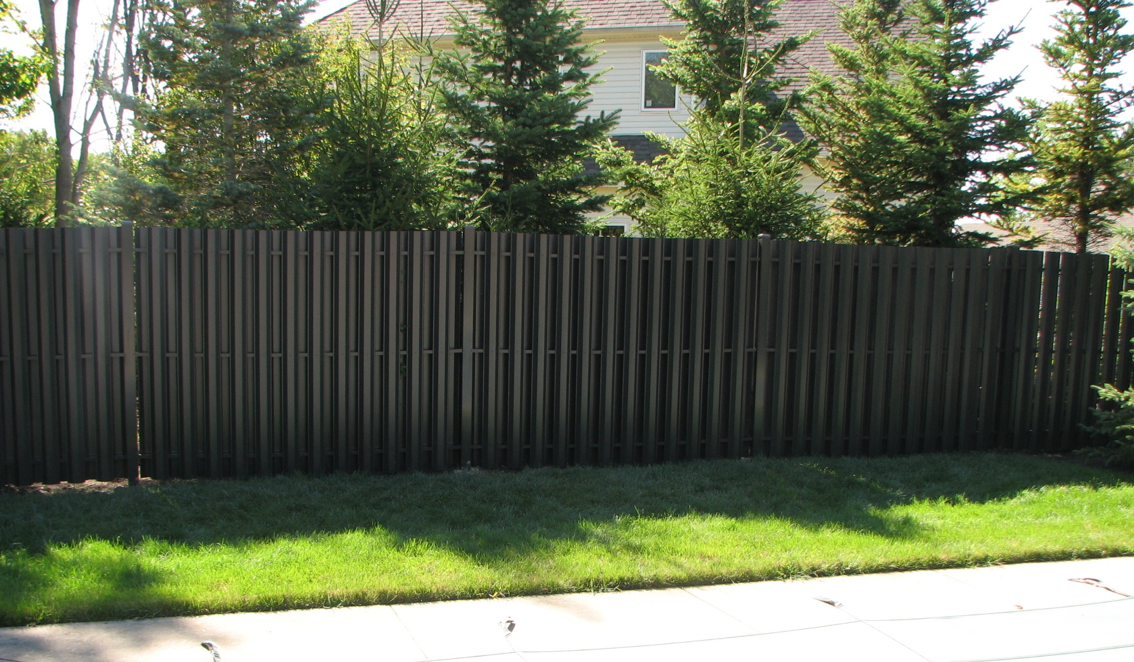 Image Of Solid Steel Fence Panels within size 2272 X 1327