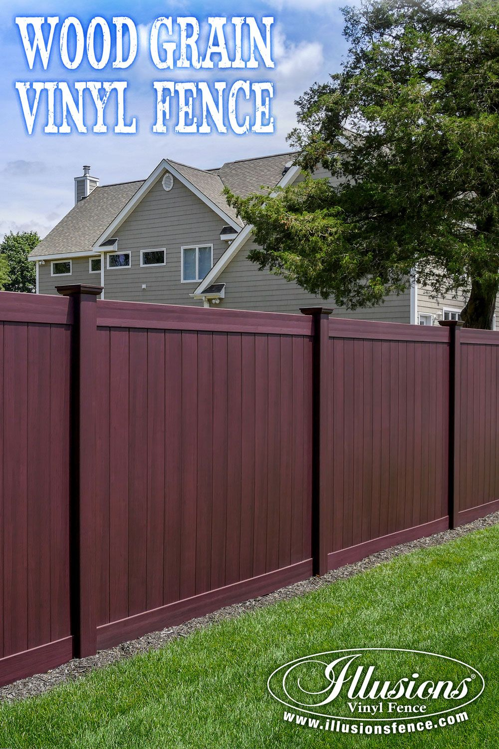 Incredible Wood Grain Pvc Vinyl Privacy Fence Panels In Mahogany pertaining to proportions 1000 X 1500