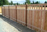 Inexpensive Alternative Design For Craftsman Style Privacy Fence intended for size 1066 X 800