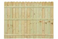 Installed Pressure Treated Pine Dog Ear Picket Fence Hsinstifpdepf throughout measurements 1000 X 1000