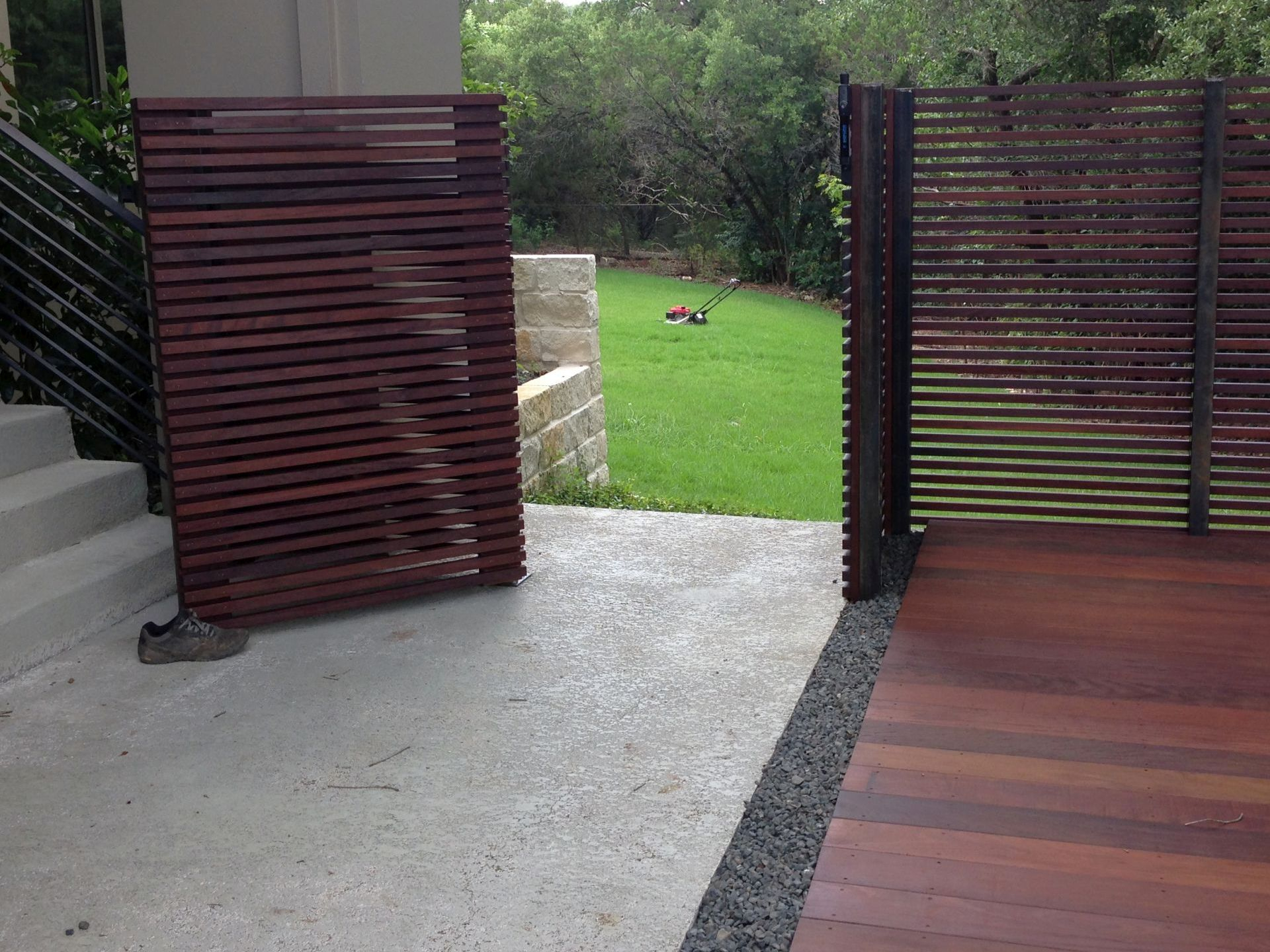 Ipe Wood Deck And Custom Screen Fence in size 1920 X 1440