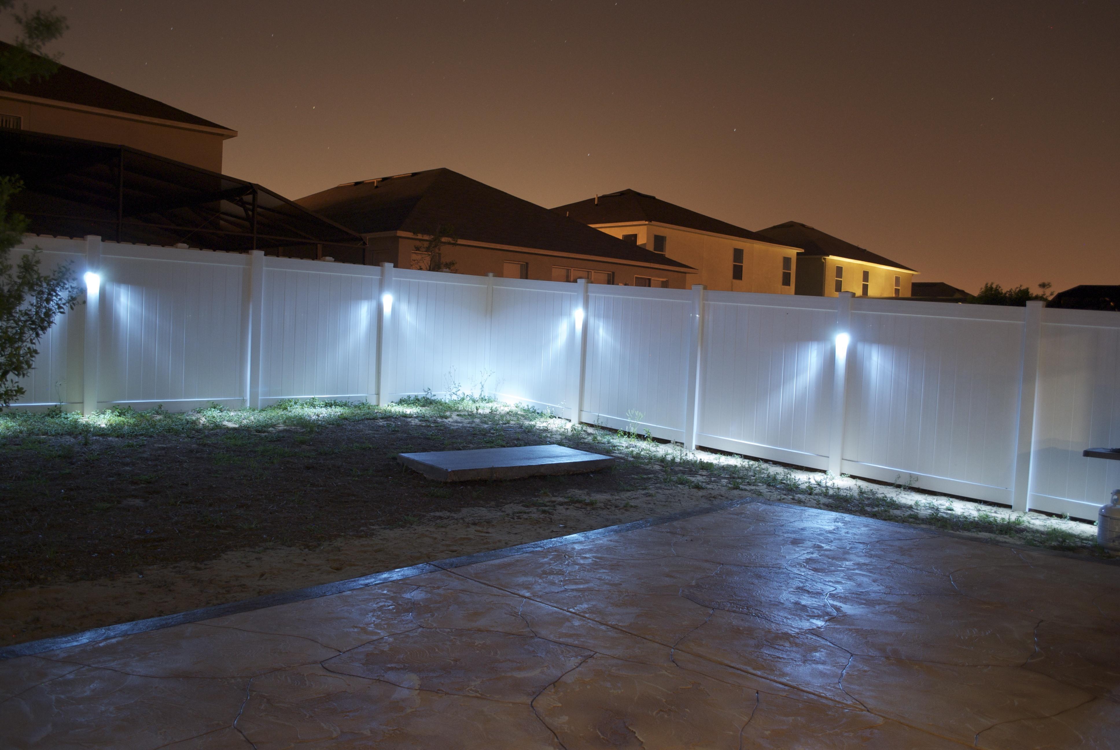 Led Fence Lighting Ideas Fences Design pertaining to size 3872 X 2592