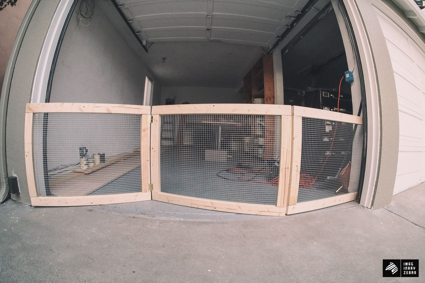 My Man Cave Part 1diy Dog Fence For Garage Doors Imaginary Zebra for proportions 1440 X 960