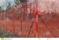 Orange Plastic Construction Mesh Safety Fence Stock Image Image Of with dimensions 1300 X 957