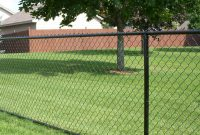 Residential Black Vinyl Chain Link Installation Fence Okc with proportions 2729 X 1361