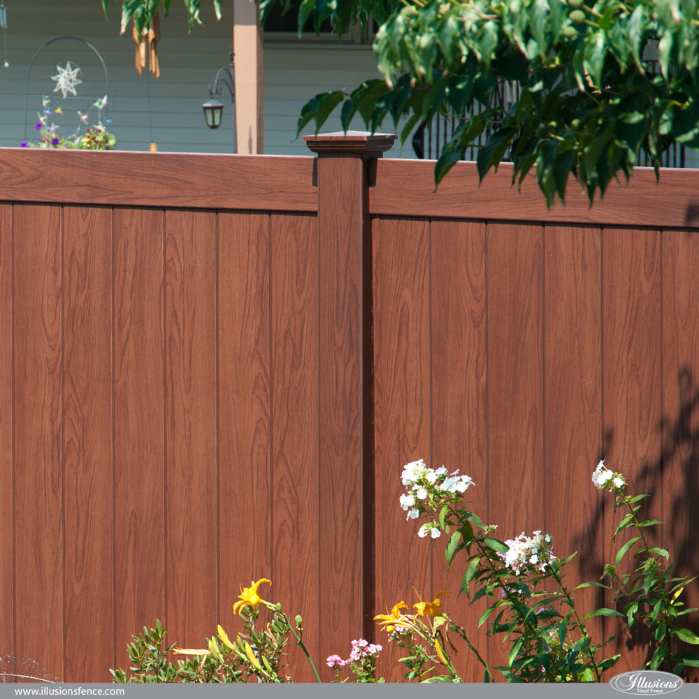 Rosewood Wood Grain Illusions Pvc Vinyl Privacy Fence Illusions regarding dimensions 1000 X 1000