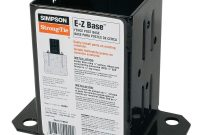 Simpson Strong Tie 12 Gauge Black Powder Coated E Z Base Fpbb44 for dimensions 1000 X 1000