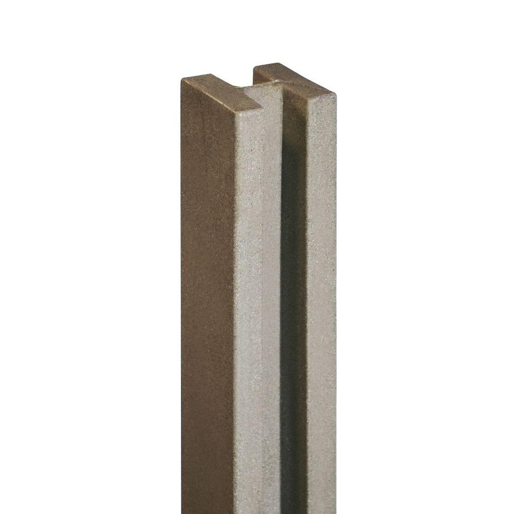 Simtek 5 In X 5 In X 8 12 Ft Brown Composite Fence Line Post throughout size 1000 X 1000
