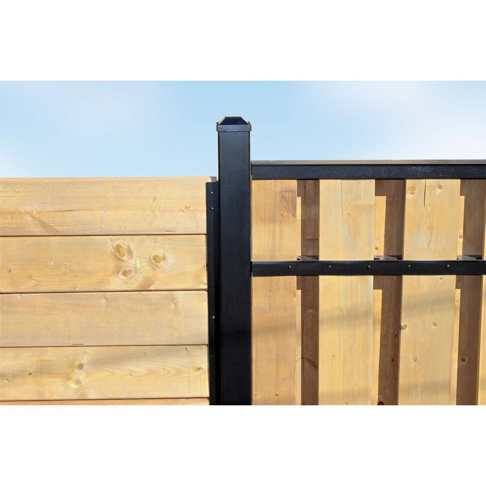 Slipfence 3 In X 3 In X 8 Ft Black Powder Coated Aluminum Fence within proportions 1000 X 1000