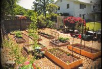Small Backyard Vegetable Home Garden With Diy Wood Raised Bed And in measurements 2640 X 1980