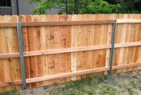 Steel Posts Postmaster With Cedar Privacy Fence Back Side pertaining to size 2592 X 1936