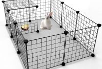Tespo Pet Playpen Small Animal Cage Indoor Portable Metal Wire Yard with regard to measurements 1024 X 1024