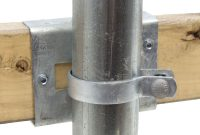 Universal Wooden Fence To Steel Post Adapter Chain Link Fittings throughout size 1600 X 1600