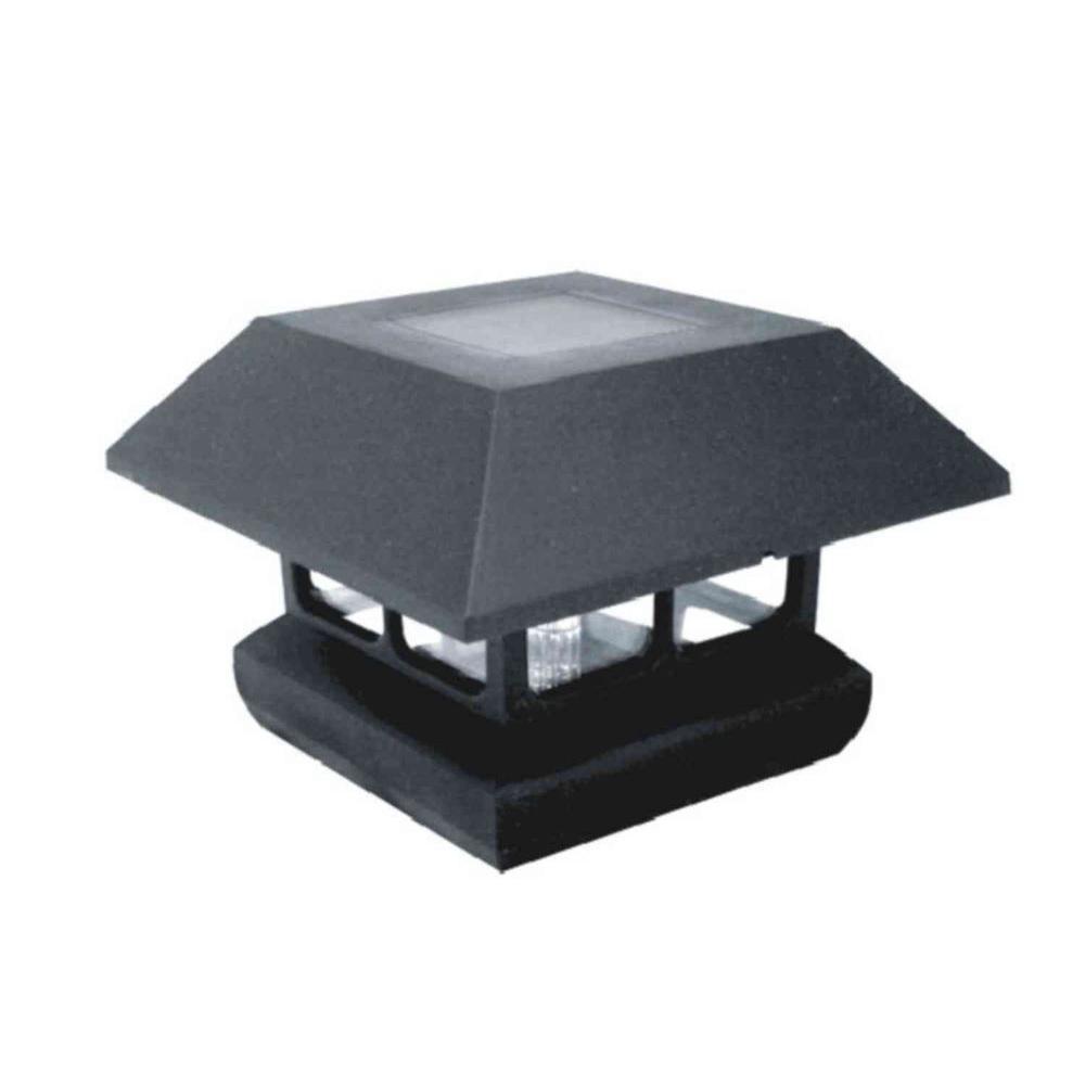 Veranda 4 In X 4 In Black Plastic Solar Powered Post Cap 4 Pack regarding proportions 1000 X 1000