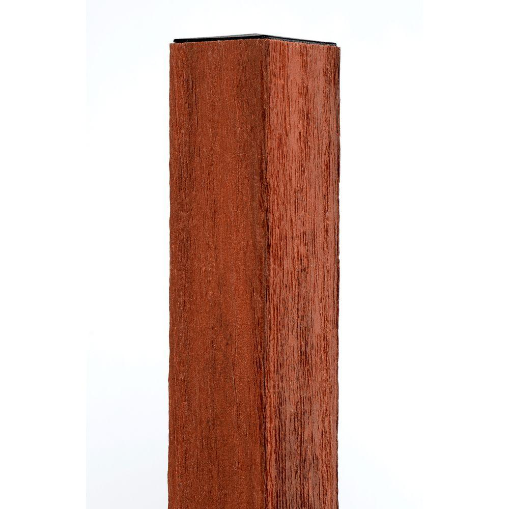 Veranda 4 In X 4 In X 96 In Heartwood Composite Fence Post With intended for proportions 1000 X 1000