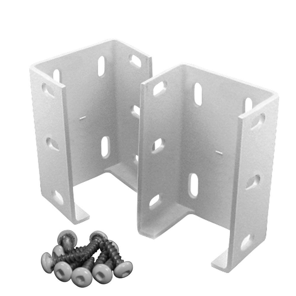 Veranda Aluminum Rail Bracket For Vinyl Fencing 2 Pack 73012344 pertaining to dimensions 1000 X 1000
