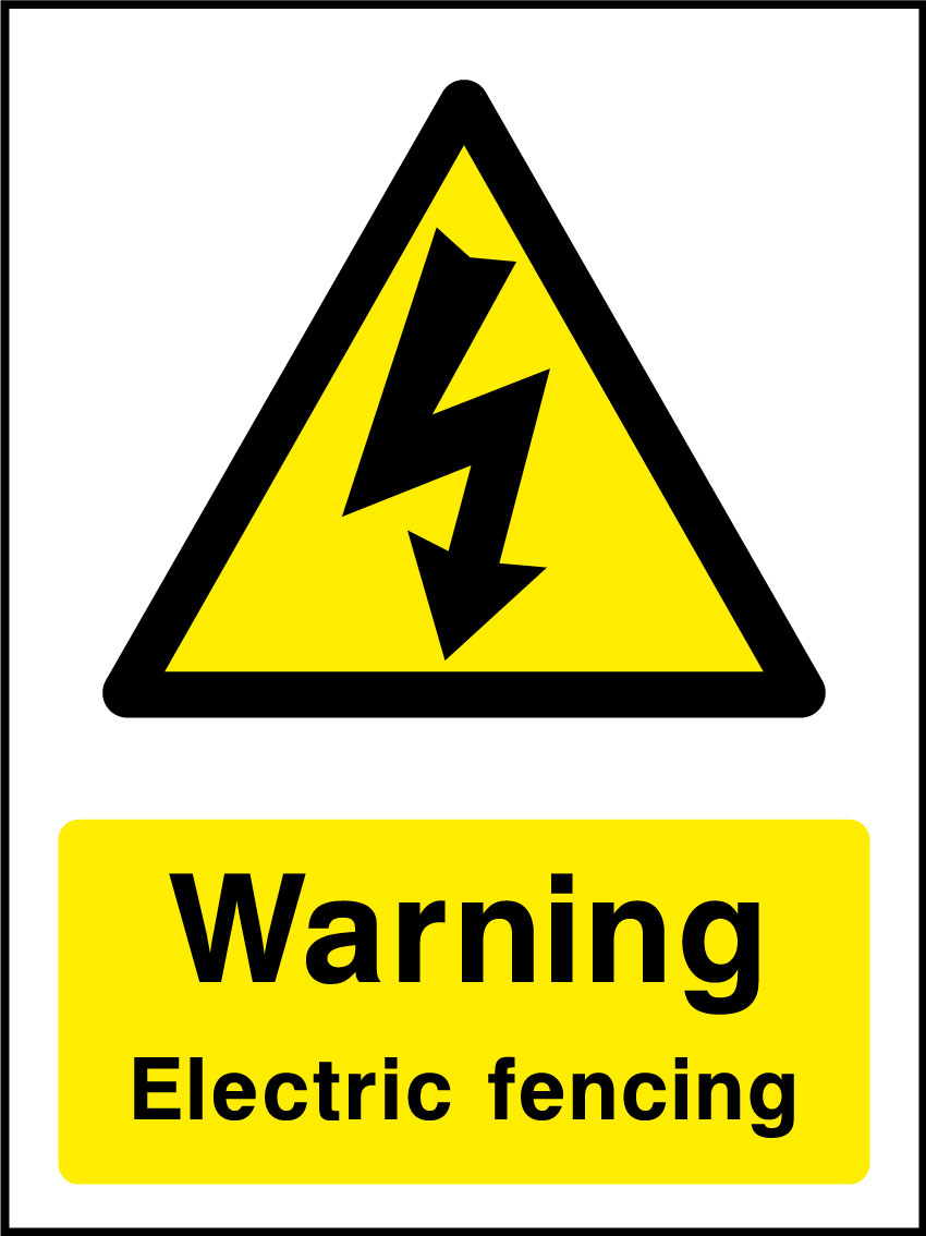 Warning Electric Fence Sign Health And Safety Signs within sizing 850 X 1134