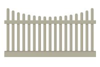 Weatherables Hampshire 3 Ft H X 8 Ft W Khaki Vinyl Picket Fence for proportions 1000 X 1000