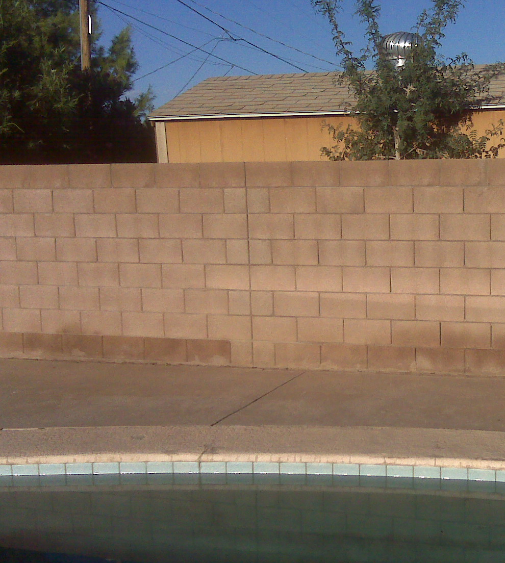 Whats With All The Backyard Concrete Block Fences In The Valley for proportions 990 X 1104