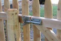 Wood Fence Gate Combination Lock Fences Design within size 1030 X 772