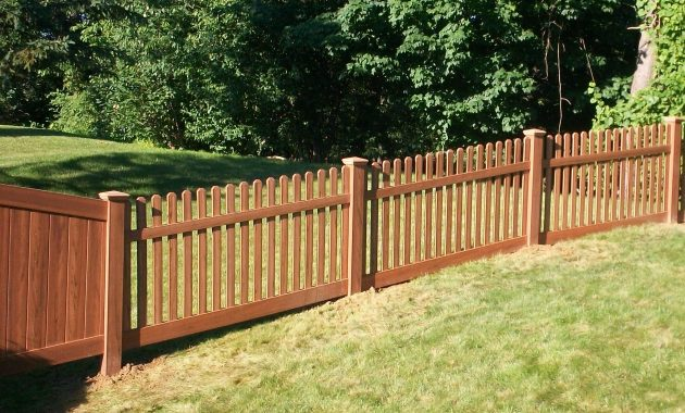 Wood Grain Vinyl Picket Fencing Fence Ideas Site