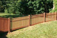 Wood Grain Vinyl Fence Haley Bros Inc Schenectady Ny with sizing 2362 X 2420