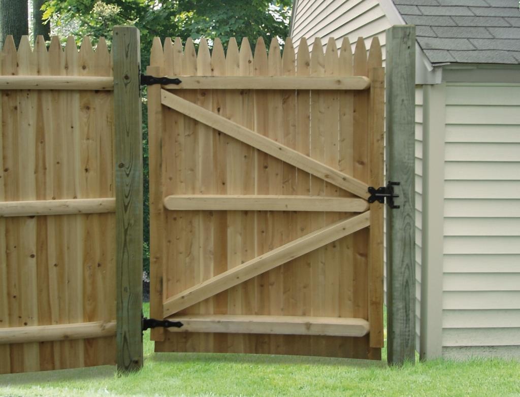 Wood privacy fence gate kit fence ideas site for Cancelli di legno per giardino
