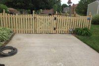 Wood Scallop Picket Fence Nky Lexington Cincinnati Burcor Fence intended for measurements 2592 X 1936