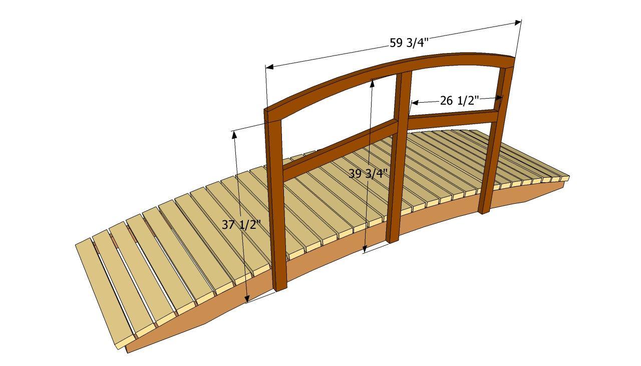 Backyard Bridges Garden Bridge Plans Free Outdoor Plans with measurements 1280 X 731