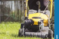 Lawn Mower Cutting Green Grass In Backyard Garden Service regarding sizing 1154 X 1600